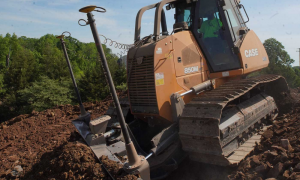 MacMor construction and CASE 850M Dozer at work