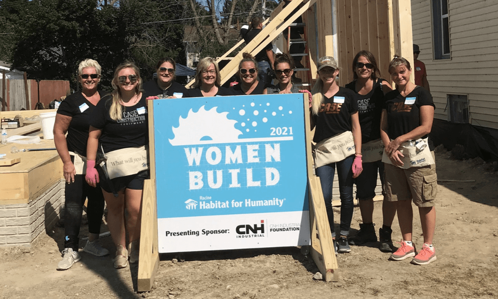 CASE Employees Support First Racine Habitat for Humanity Women Build Event